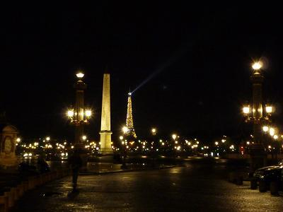 ルクソール・オベリスクが見えるコンコルド広場@Paris