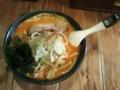 [辛]ラーメンひむろ錦糸町店の「鉄火麺」。激辛注意