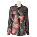 [Fashion]ローラ アシュレイの花柄&シースルーブラウス