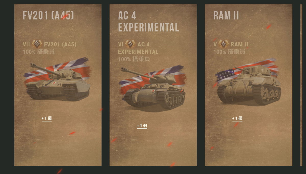 戦車の報酬