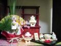 [置物猫]正月飾り/20070110