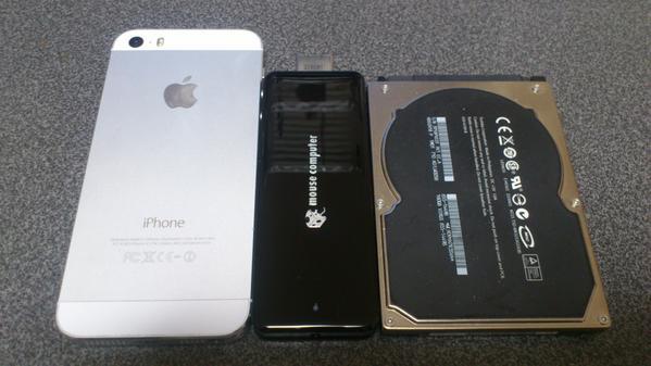 iPhone5s・2.5インチHDDとのサイズ比較
