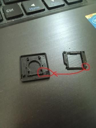 破損したキー