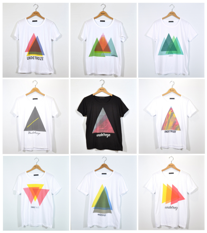 色彩や配置を考えながらつくる「トライアングル」Tシャツ