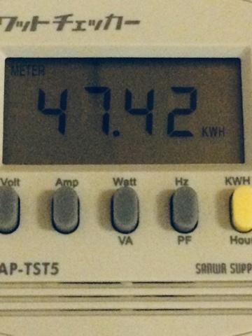 2018年8月のエアコン電気使用量