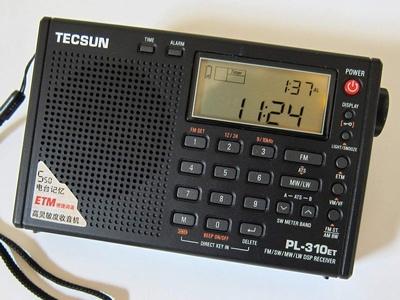 短波/AM/FM DSP処理 BCLラジオ TECSUN PL-310ET
