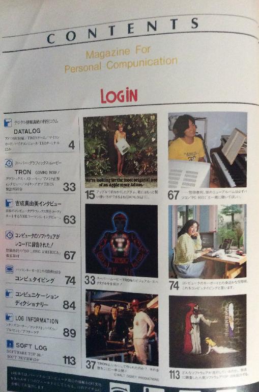 月刊ログイン1982年No.2の目次1