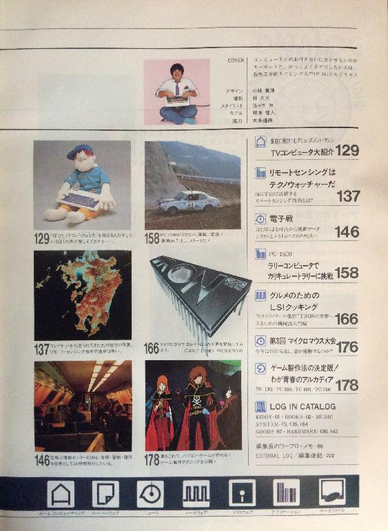 月刊ログイン1982年No.2の目次2