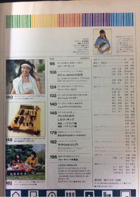 月刊ログイン 創刊号 目次2