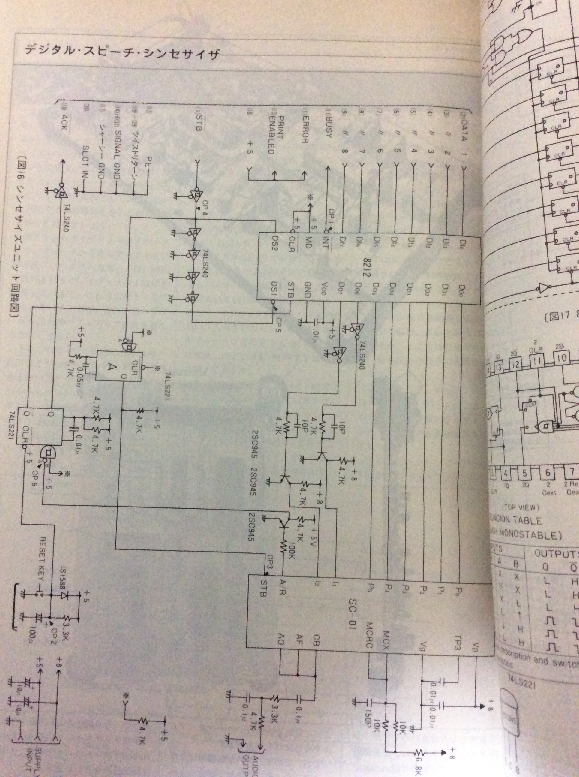 デジタルスピーチシンセサイザー 回路図