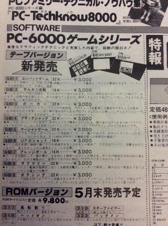 月刊ログイン 創刊号 システムソフトの広告