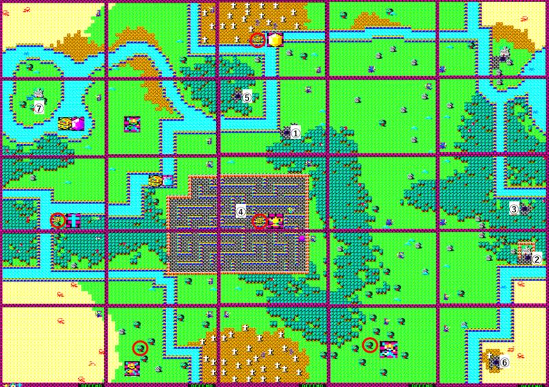 ハイドライドの地上MAP