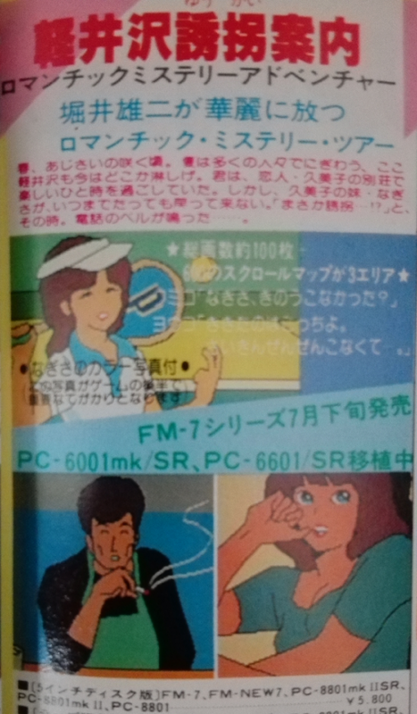 軽井沢誘拐案内の広告2