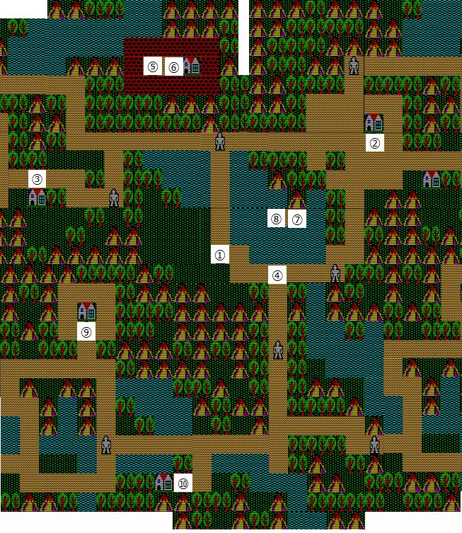 地蔵が原のマップ