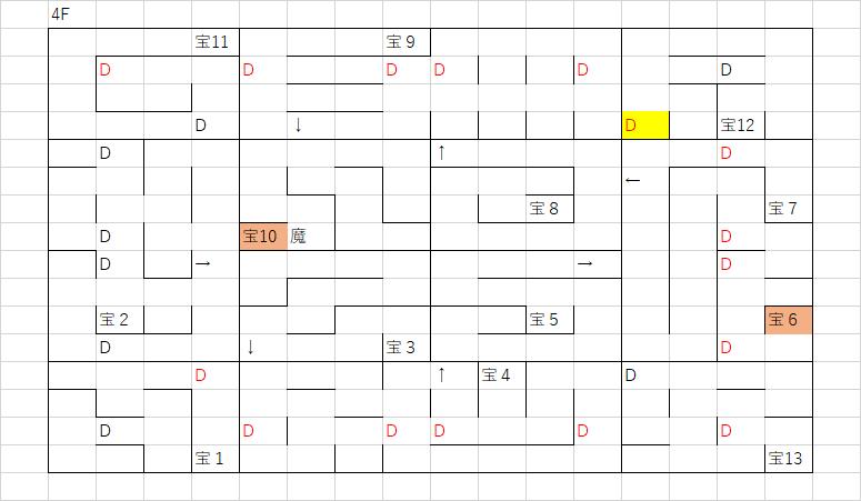 ツタの塔_4Fのマップ