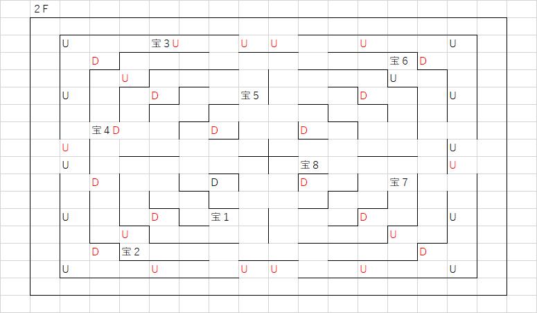 ノバの塔_2Fのマップ