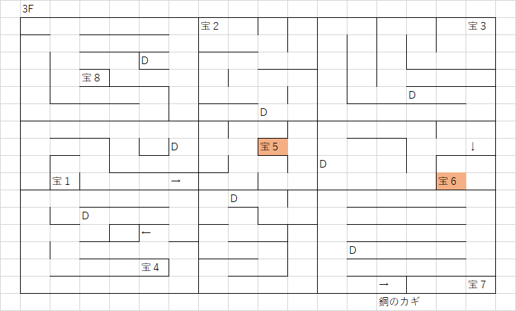 ウトカの塔3FのMAP_完全版
