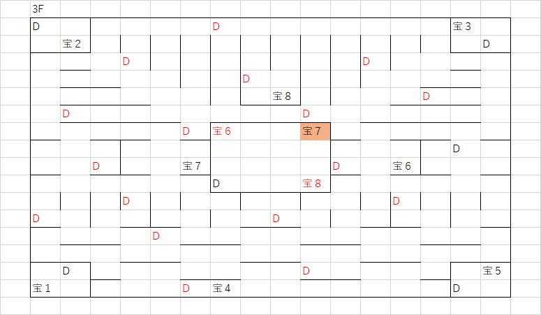 ロコの塔_3Fのマップ