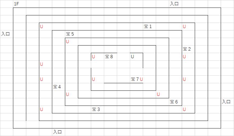 ロコの塔_1Fのマップ