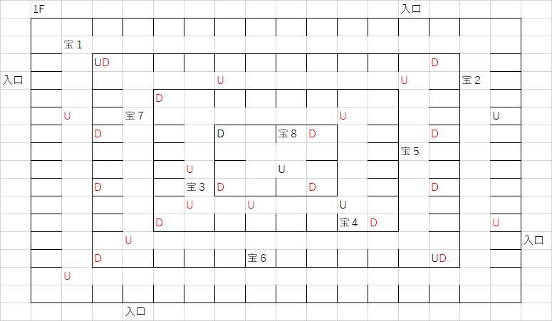 ツタの塔_1Fのマップ