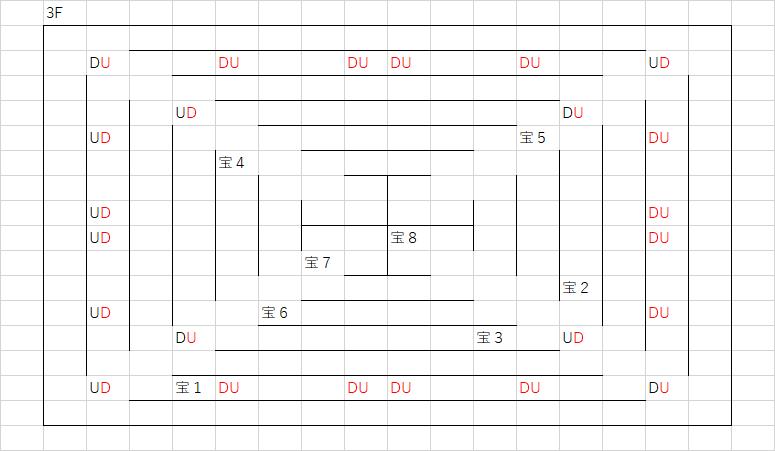 ツタの塔_3Fのマップ