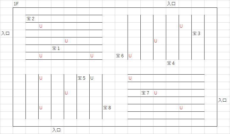 ノバの塔_1Fのマップ
