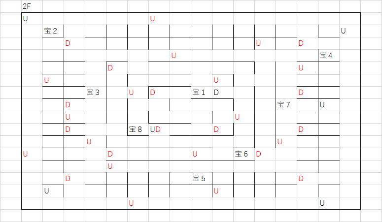 ロコの塔_2Fのマップ