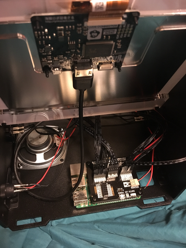 LCDとラズベリーパイをHDMIで接続