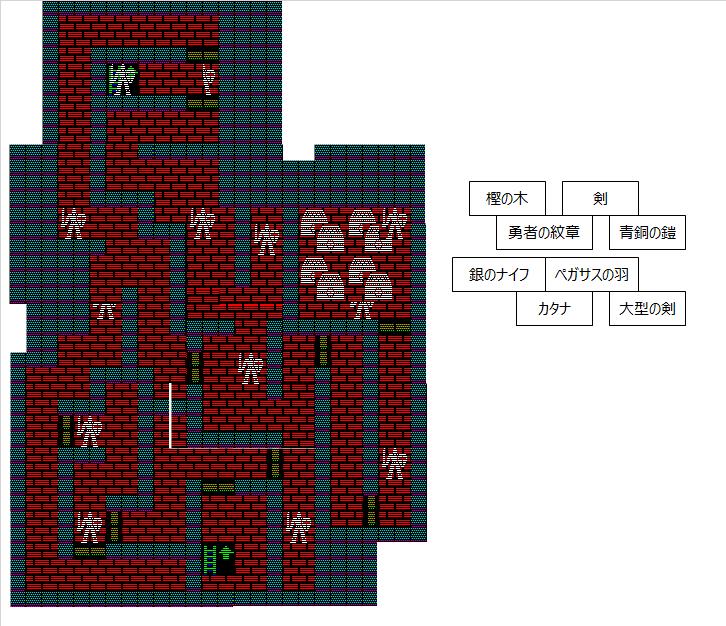 夢幻の心臓Ⅱ:サルア城地下1F