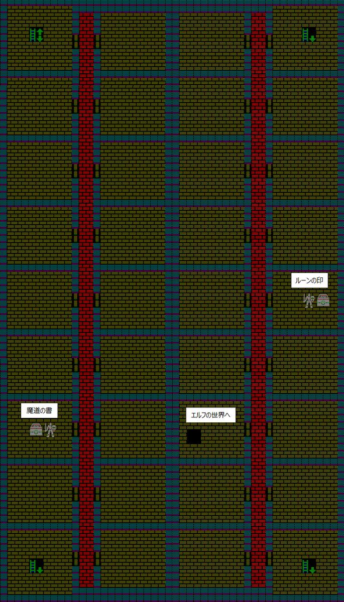 夢幻の心臓Ⅱ:アストラルの洞窟地下1Fのマップ