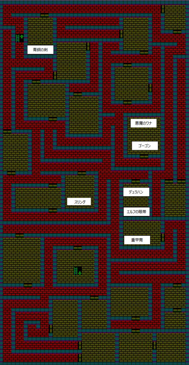 夢幻の心臓Ⅱ:魔法封じの洞窟B1Fのマップ