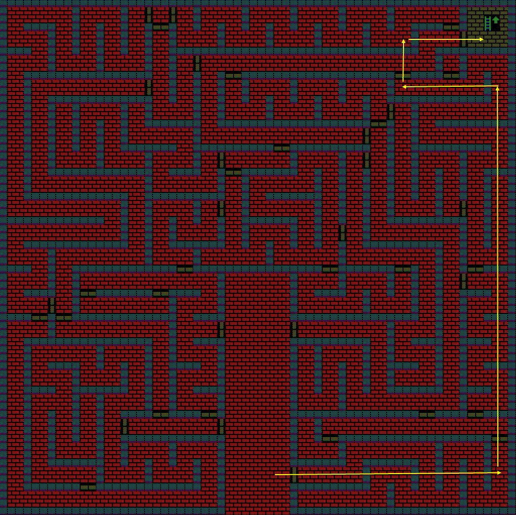 夢幻の心臓Ⅱ:火の塔1Fのマップ