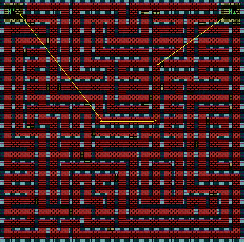 夢幻の心臓Ⅱ:火の塔2Fのマップ