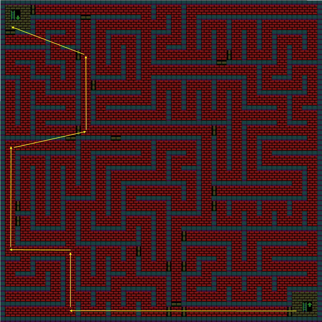 夢幻の心臓Ⅱ:火の塔3Fのマップ