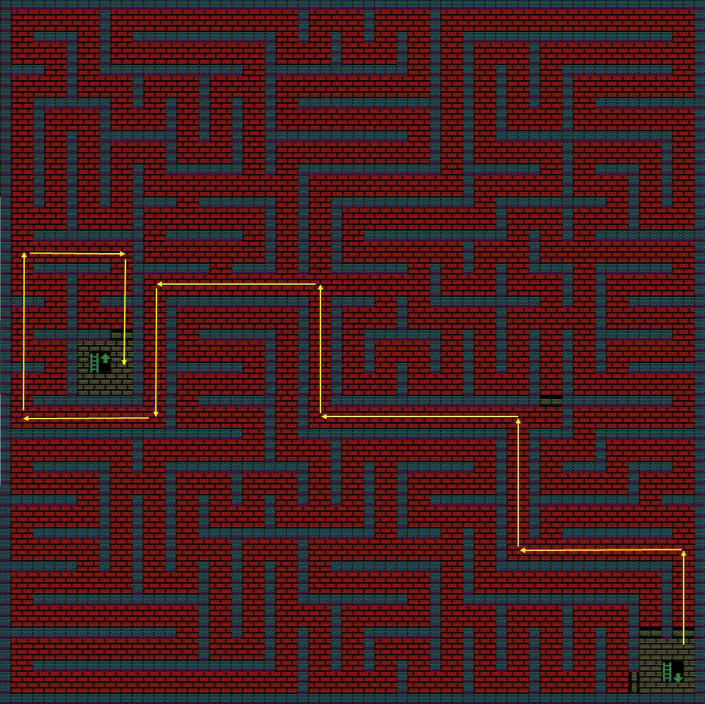 夢幻の心臓Ⅱ:火の塔4Fのマップ