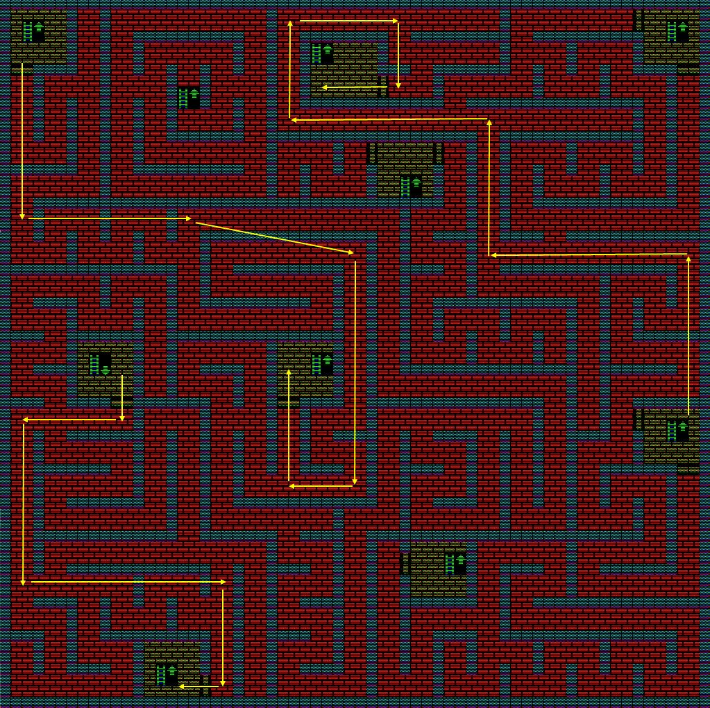 夢幻の心臓Ⅱ:火の塔5Fのマップ
