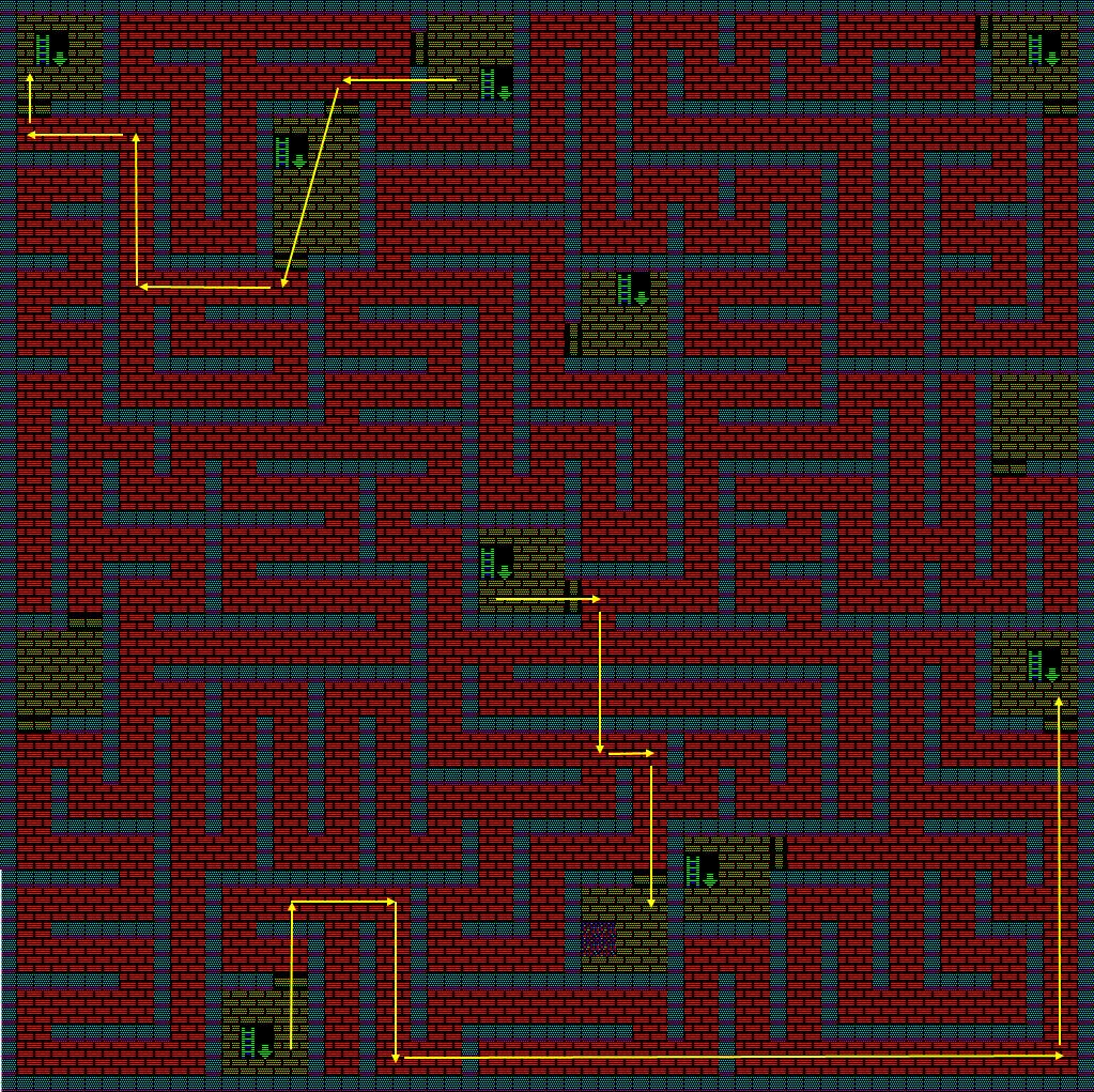 夢幻の心臓Ⅱ:火の塔6Fのマップ