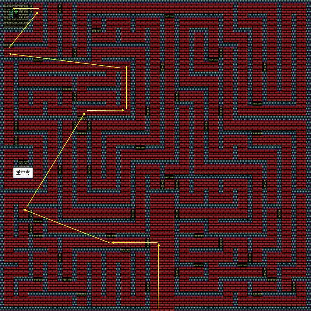 夢幻の心臓Ⅱ:水の塔1Fのマップ