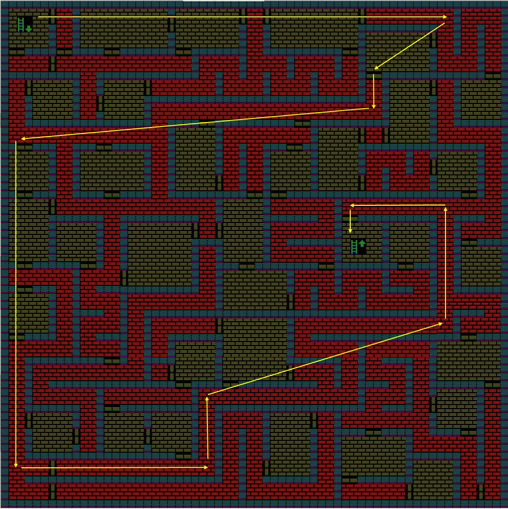 夢幻の心臓Ⅱ:水の塔2Fのマップ
