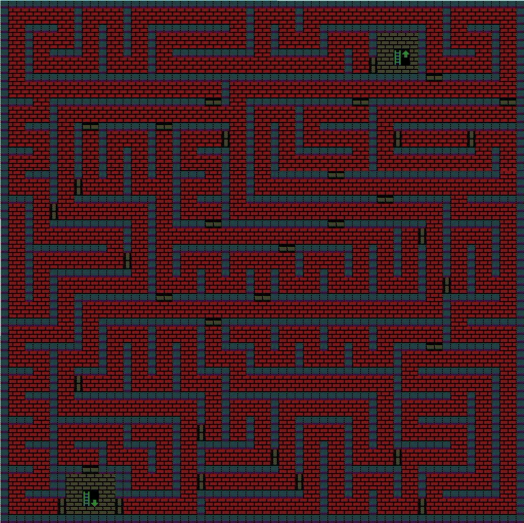 夢幻の心臓Ⅱ:水の塔4Fのマップ