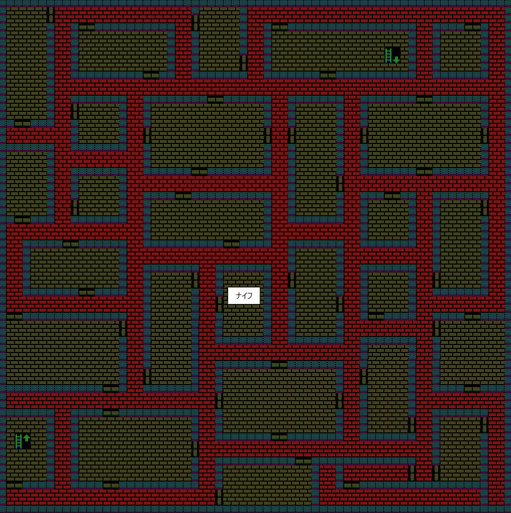 夢幻の心臓Ⅱ:水の塔5Fのマップ