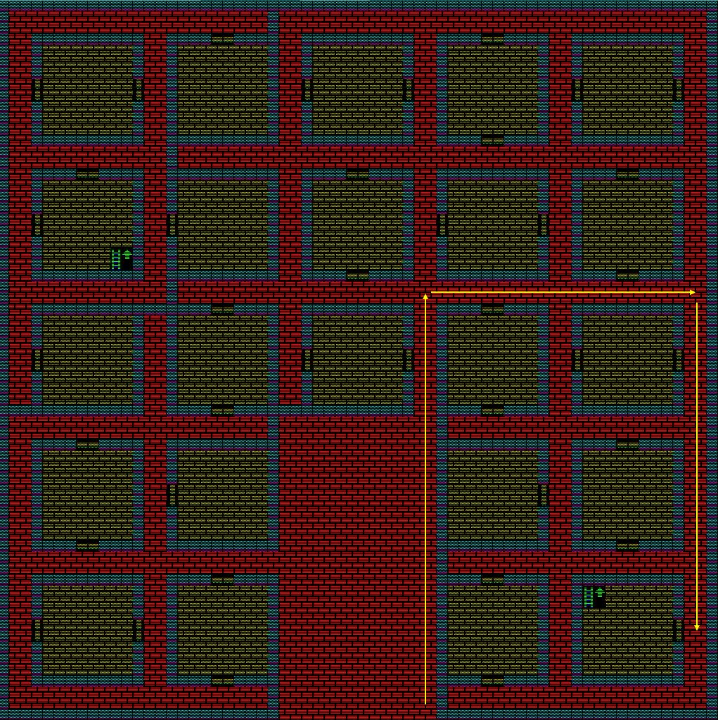 夢幻の心臓Ⅱ:土の塔1Fのマップ