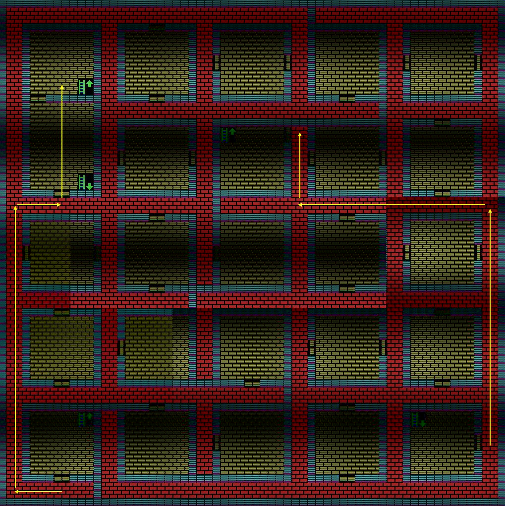夢幻の心臓Ⅱ:土の塔2Fのマップ