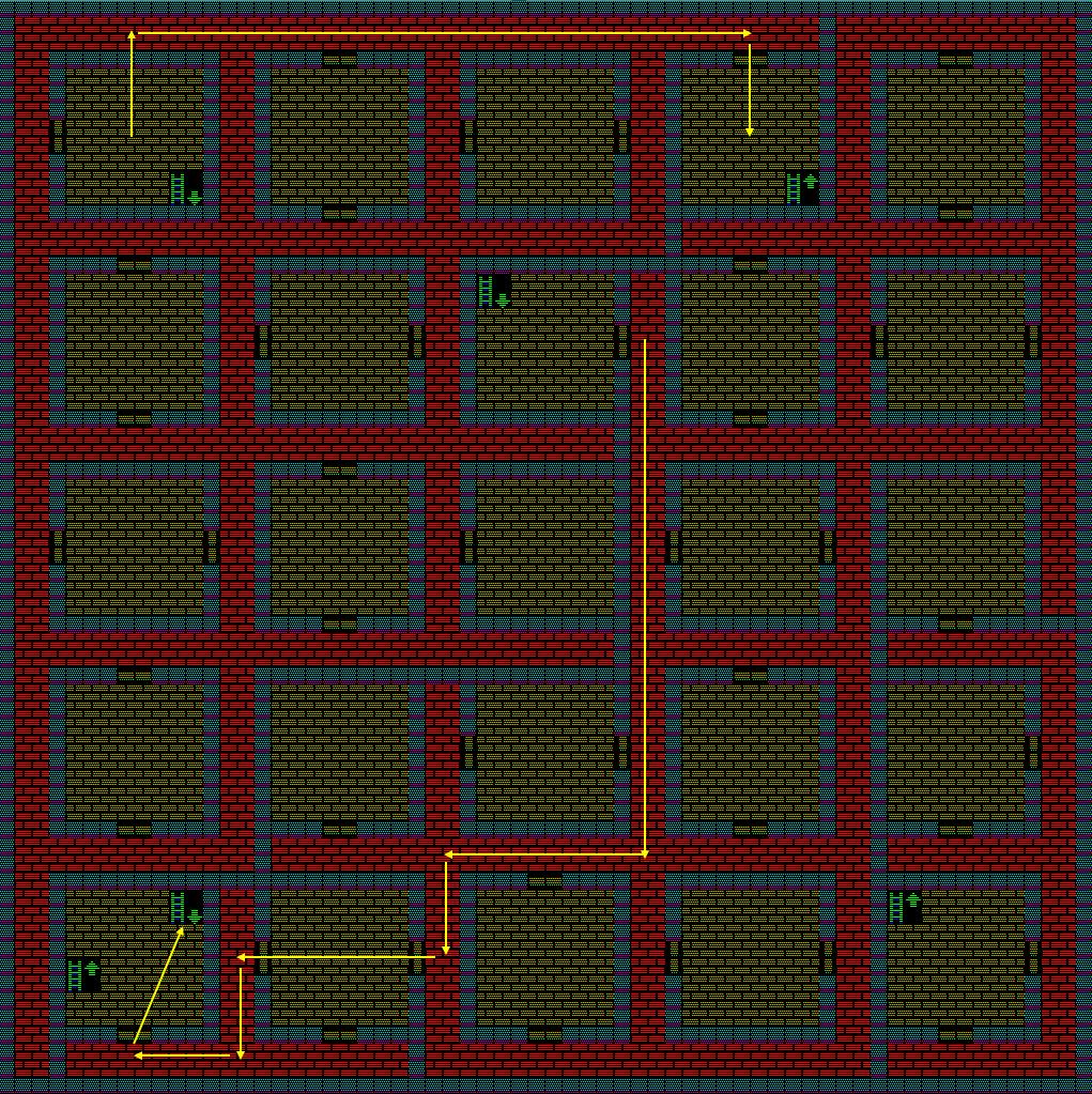 夢幻の心臓Ⅱ:土の塔3Fのマップ