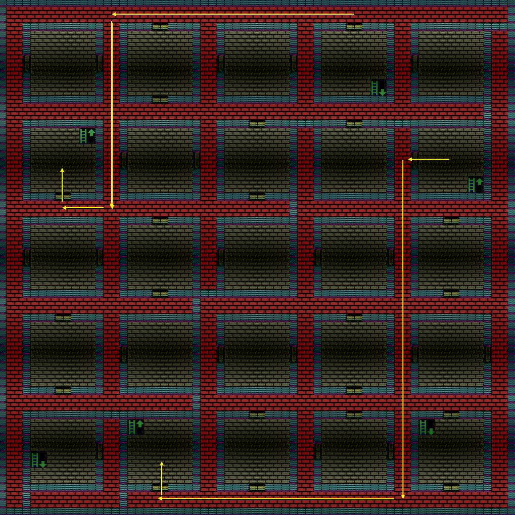 夢幻の心臓Ⅱ:土の塔4Fのマップ
