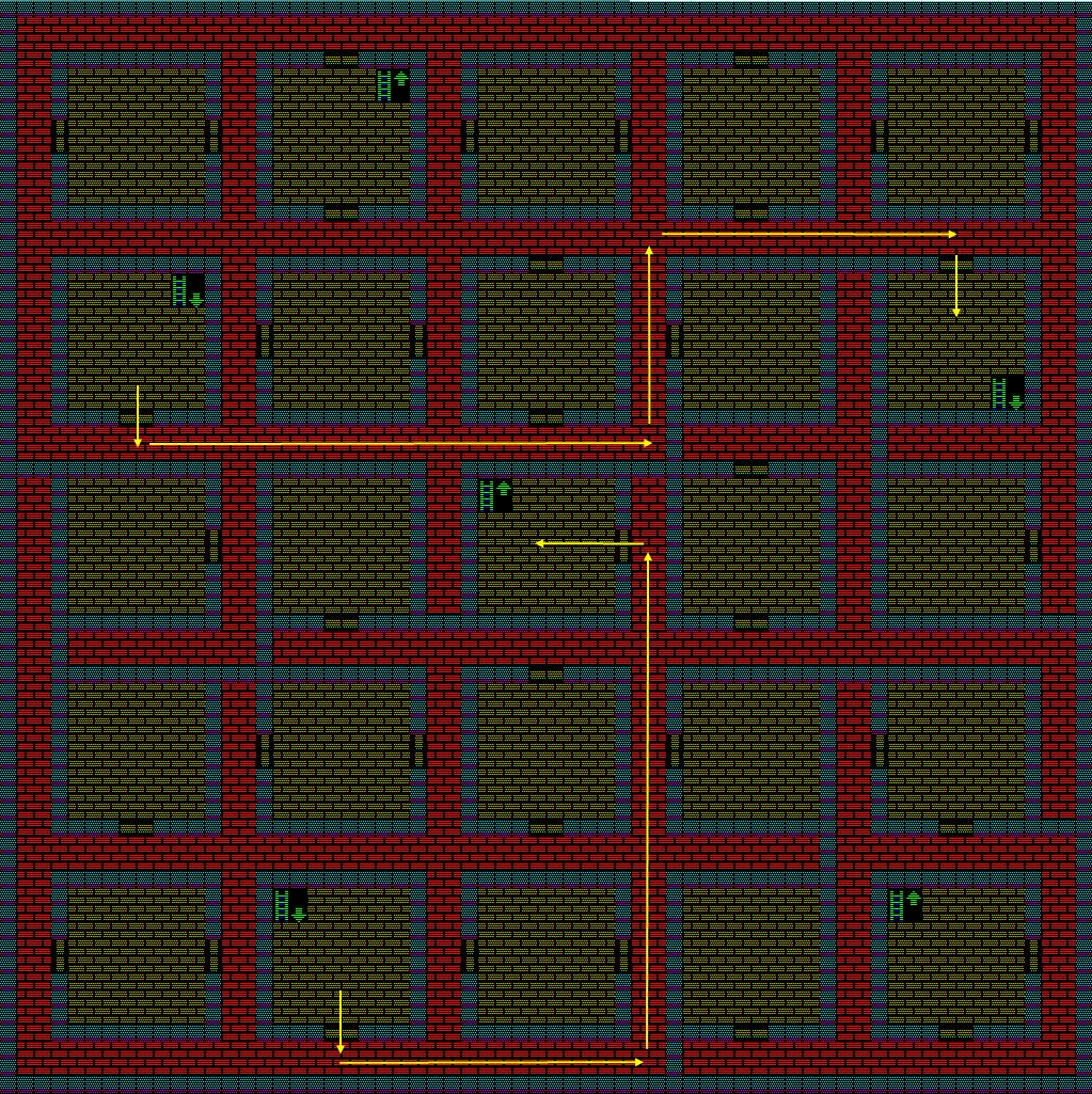 夢幻の心臓Ⅱ:土の塔5Fのマップ