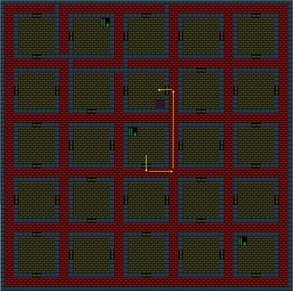 夢幻の心臓Ⅱ:土の塔6Fのマップ