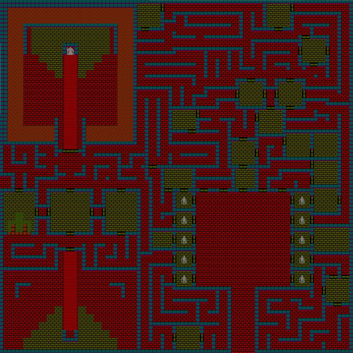 夢幻の心臓Ⅱ:魔神城のマップ