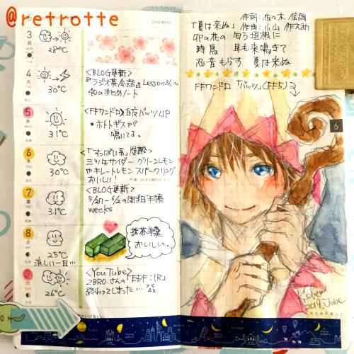 6 3 9のほぼ日手帳weeks Retrotte Diary