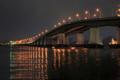 京都新聞写真コンテスト 夕暮れの琵琶湖大橋